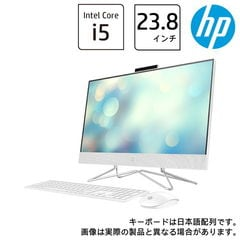 HP(エイチピー) オールインワンPC HP All-in-One 24-df0202jp ピュアホワイト HP 24-df0000 AiO G1モデル(i5/8GB/256GB+2TB) 9EH12AA-AAAA 【返品種別A】