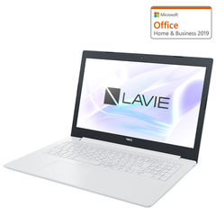 ノートパソコン NEC 15.6型ノートパソコン LAVIE Note Standard NS20A/M2W [AMD A6 / メモリ 4GB / HDD 1TB]Microsoft Office Home & Business 2019 PC-NS20AM2W 【返品種別A】