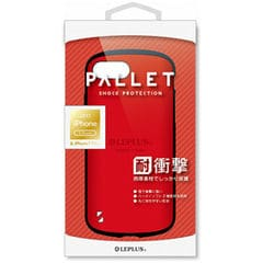 LP-I7SPHVCRD MS Products iPhone 8 Plus/7 Plus用 耐衝撃ケース「PALLET」 レッド LEPLUS 【返品種別A】