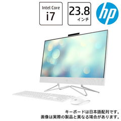 HP(エイチピー) オールインワンPC HP All-in-One 24-df0043jp ピュアホワイト HP 24-df0000 AiO G1モデル(i7/16GB/256GB+2TB/GeForce MX330) 180Q3AA-AAAA 【返品種別A】
