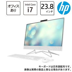HP(エイチピー) オールインワンPC HP All-in-One 24-df0043jp ピュアホワイト HP 24-df0000 AiO G1モデル(i7/16GB/256GB+2TB/GeForce MX330/H&B 2019) 180Q3AA-AAAB 【返品種別A】