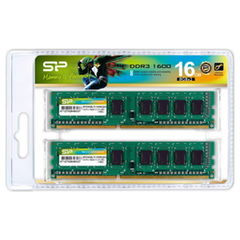 シリコンパワー PC3-12800(DDR3-1600)240pin DDR3 SDRAM DIMM 16GB(8GB×2枚) SP016GBLTU160N22 【返品種別B】