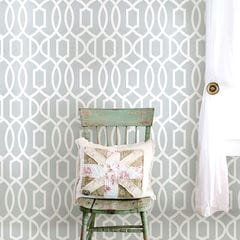 貼ってはがせるシール壁紙 Nu Wallpaper  Gray Grand Trellis Peel And Stick Wallpaper / NU1421