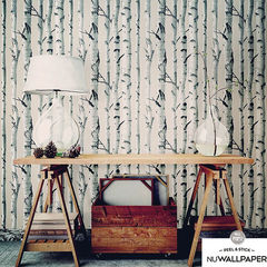 貼ってはがせるシール壁紙 Nu Wallpaper  Birch Tree Peel And Stick Wallpaper / NU1650(NU3128)