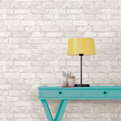 貼ってはがせるシール壁紙 Nu Wallpaper Grey and White Brick Peel And Stick Wallpaper / NU1653(NU3010)