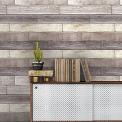 貼ってはがせるシール壁紙 Nu Wallpaper  Reclaimed Wood Plank Natural Peel and Stick Wallpaper / NU1690