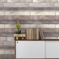 貼ってはがせるシール壁紙 Nu Wallpaper Reclaimed Wood Plank Natural Peel and Stick Wallpaper / NU1690(NU3130)