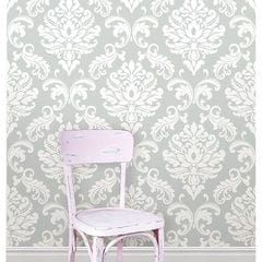 貼ってはがせるシール壁紙 Nu Wallpaper Ariel Grey Peel and Stick Wallpaper / NU1935