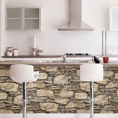 貼ってはがせるシール壁紙 Nu Wallpaper Hadrian Stone Wall Peel and Stick Wallpaper / NU2065(NUS2065)