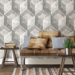 貼ってはがせるシール壁紙 Nu Wallpaper Bauhaus Weathered Wood Peel And Stick Wallpaper / NU2085 (NU2277)