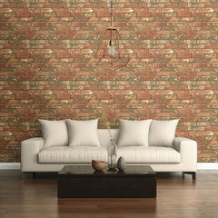 貼ってはがせるシール壁紙 Nu Wallpaper West End Brick Peel and Stick Wallpaper / NU2088 (NU2214)