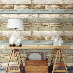 貼ってはがせるシール壁紙 Nu Wallpaper Old Salem Vintage Wood Peel and Stick Wallpaper / NU2188