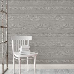 貼ってはがせるシール壁紙 Nu Wallpaper Grey Salvaged Wood Peel And Stick Wallpaper / NU2240