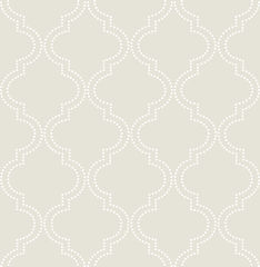 【サンプル専用】貼ってはがせるシール壁紙 Nu Wallpaper  Taupe Quatrefoil Peel And Stick Wallpaper / NU1425