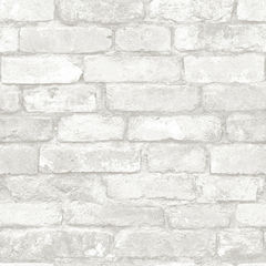 【サンプル専用】貼ってはがせるシール壁紙 Nu Wallpaper Grey and White Brick Peel And Stick Wallpaper / NU1653(NU3010)
