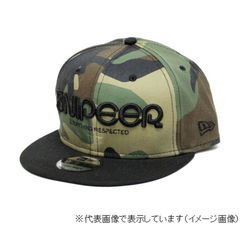 スナイパー(SNIPEER) SNP-C020 LOGO 9FIFTY Wood Land CAMO×Black フリーサイズ