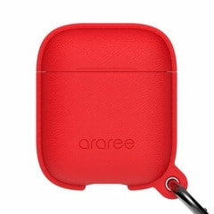 【araree(アラリー)】AirPods アクセサリー AirPods Case POPS Red[▲][R]
