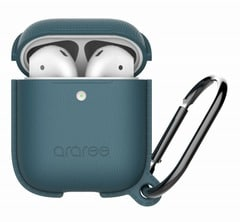【araree(アラリー)】AirPods アクセサリー AirPods Case POPS <Wireless Charging Case専用> フォレストブルー[▲][R]