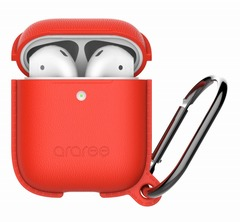【araree(アラリー)】AirPods アクセサリー AirPods Case POPS <Wireless Charging Case専用> レッド[▲][R]