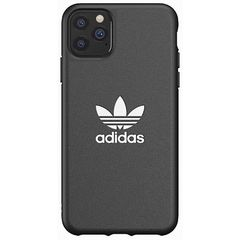 iPhone 11 Pro Max adidas アディダス OR Moulded TREFOIL Black White ケース カバー スマホ[▲][G]