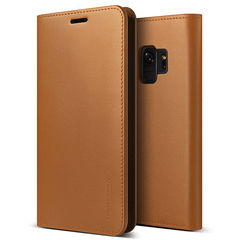 Galaxy S9 SCV38/Galaxy S9 SC-02K 共通 Genuine/Leather/Diary/Brown スマホ スマートフォン ケース カバー[▲][G]