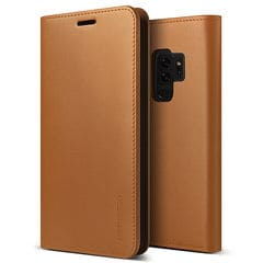 Galaxy S9 Plus SCV39/Galaxy S9 Plus SC-03K 共通 Genuine/Leather/Diary/Brown  スマホ スマートフォン ケース カバー[▲][G]