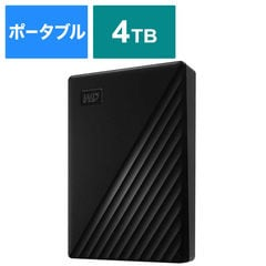 WESTERN DIGITAL USB 3.1 Gen 1(USB 3.0)/2.0対応 ポータブルHDD WD My Passport 4TB WDBPKJ0040BBK-JESN ブラック