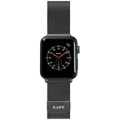 LAUT APPLE WATCH 1/2/3/4 42/44MM BAND LAUT_AWL_ST_BK ブラック
