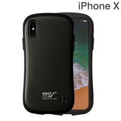 [iPhone XS/X専用]ROOT CO. Gravity Shock Resist Case. /ROOT CO.×iFace Model (ブラック)