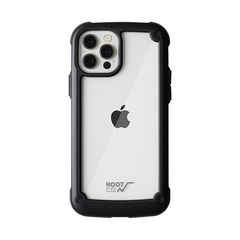[iPhone 12/12 Pro専用]ROOT CO. GRAVITY Shock Resist Tough & Basic Case.(ブラック)
