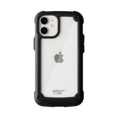 [iPhone 12 mini専用]ROOT CO. GRAVITY Shock Resist Tough & Basic Case. (ブラック)