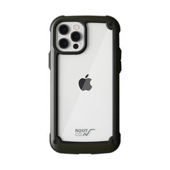 [iPhone 12/12 Pro専用]ROOT CO. GRAVITY Shock Resist Tough & Basic Case.(カーキ)