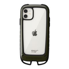 [iPhone 11専用]ROOT CO. Gravity Shock Resist Case +Hold. (カーキ)