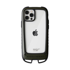 [iPhone 12/12 Pro専用]ROOT CO. GRAVITY Shock Resist Case +Hold.(カーキ)