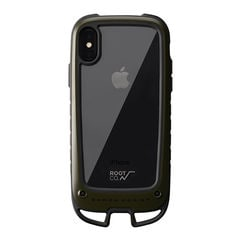 [iPhone XS/X専用]ROOT CO. Gravity Shock Resist Case +Hold. (カーキ)