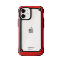 [iPhone 12 mini専用]ROOT CO. GRAVITY Shock Resist Tough & Basic Case.(レッド)