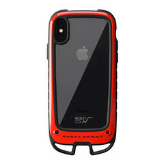 [iPhone XS/X専用]ROOT CO. Gravity Shock Resist Case +Hold. (レッド)