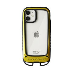 [iPhone 12 mini専用]ROOT CO. GRAVITY Shock Resist Case +Hold.(イエロー)