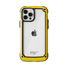 [iPhone 12/12 Pro専用]ROOT CO. GRAVITY Shock Resist Tough & Basic Case.(イエロー)