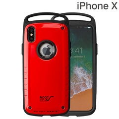 [iPhone XS/X専用]ROOT CO. Gravity Shock Resist Case Pro. (レッド/グロス)
