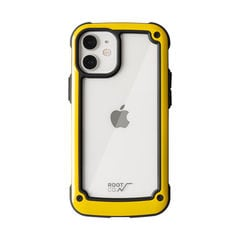 [iPhone 12 mini専用]ROOT CO. GRAVITY Shock Resist Tough & Basic Case.(イエロー)