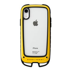 [iPhone XR専用]ROOT CO. Gravity Shock Resist Case +Hold. (イエロー)