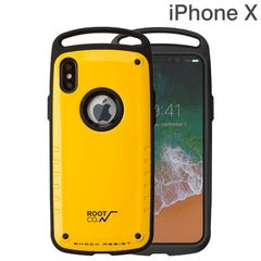 [iPhone XS/X専用]ROOT CO. Gravity Shock Resist Case Pro. (イエロー/グロス)