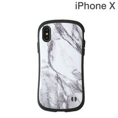 [iPhone XS/X専用]iFace First Class Marbleケース(ホワイト)