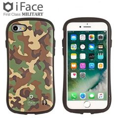 [iPhone 8/7専用]iFace First Class Militaryケース(カーキ)