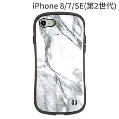 [iPhone 8/7/SE専用] SE第2世代 iphoneSE2 iFace First Class Marbleケース(ホワイト)