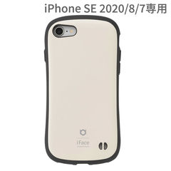 [iPhone SE 2020/8/7専用]iFace First Class KUSUMIケース(くすみホワイト)