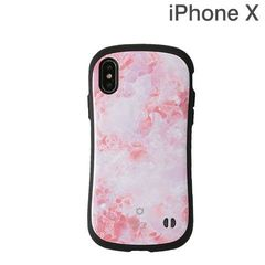 [iPhone XS/X専用]iFace First Class Marbleケース(ピンク)
