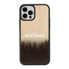 [iPhone 12/12 Pro専用]WILD THINGS(ワイルドシングス) × kibaco Wood Case (HAZE)