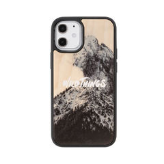 [iPhone 12 mini専用]WILD THINGS(ワイルドシングス) × kibaco Wood Case (SNOW MOUNTAIN)